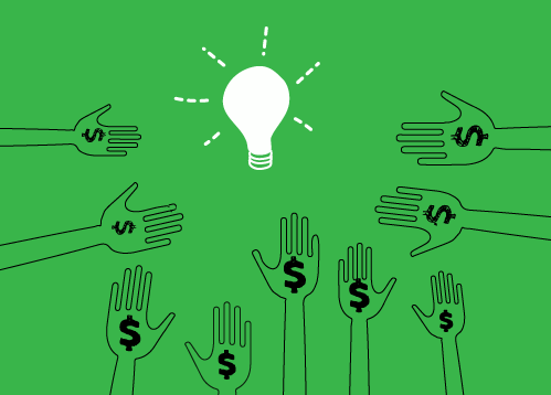 The crowd can support your idea through crowd funding on ReadyFundGo, fees are minimal